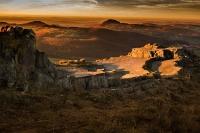 Sonnenuntergang über der Kuppenrhön