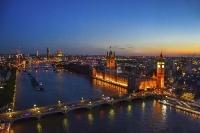 Sonnenuntergang über London